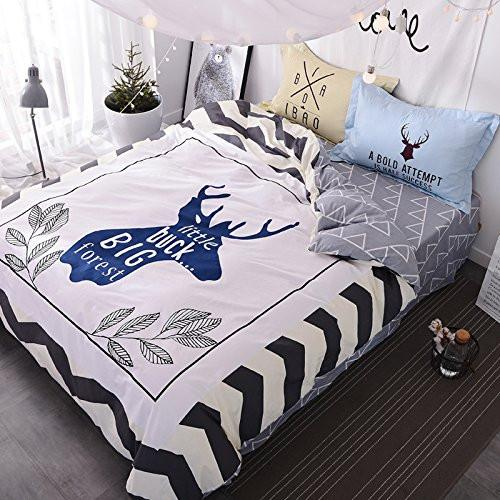 Little Buck Big Forest Deer Full/Queen 5PC Duvet Bed Set-GoGetGlam