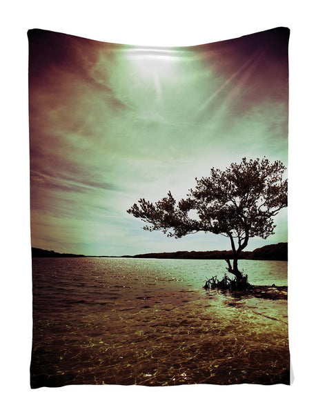 Lonely Tree Scene Tapestry Wall Hanging-GoGetGlam