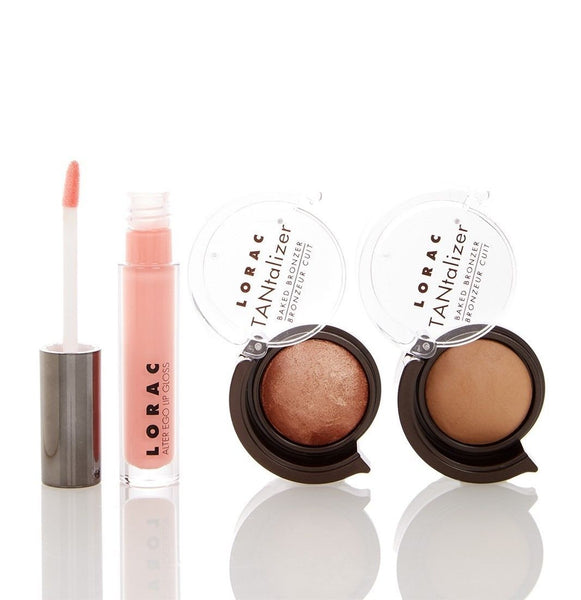 LORAC Take Me to TANtego Lip & Bronzer 3-Piece Set-GoGetGlam