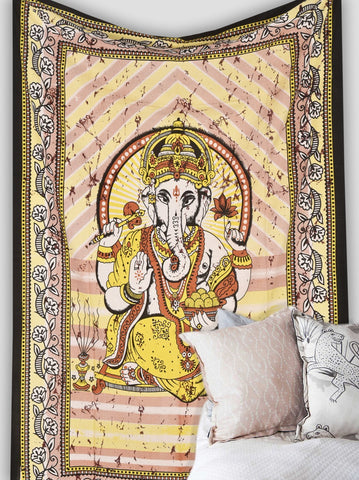 Lord Ganesh Tapestry Hippie Boho Tapestry Wall Hanging Art-GoGetGlam