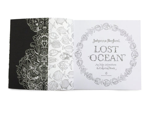 Lost Ocean: An Inky Adventure and Coloring Book for Adults - GoGetGlam Boho Style