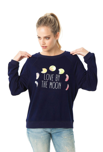 Love By The Moon Lightweight Sweatshirt-GoGetGlam