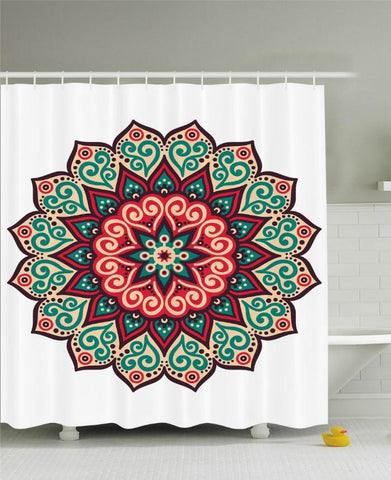 Magical Mandala Boho Fabric Shower Curtain - GoGetGlam Boho Style