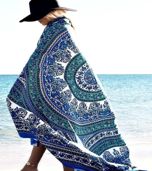Magical Thinking Blue Mandala Boho Bohemian Tapestry-GoGetGlam