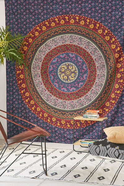Magical Thinking Large Hippie Tapestry Mandala Bohemian Bedspread Throw-GoGetGlam