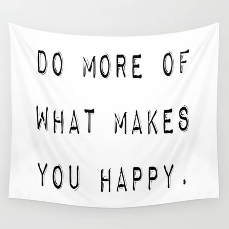 Makes You Happy Twin Bed Wall Hanging Fabric Tapestry-GoGetGlam