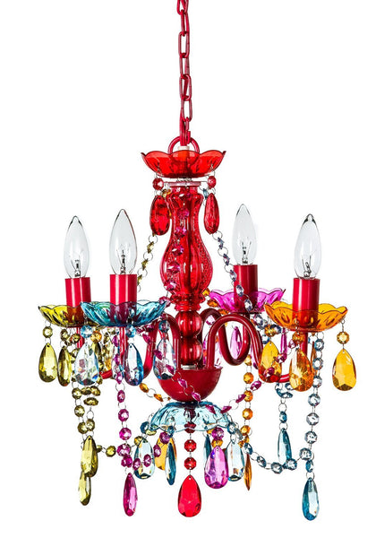 Mallori Multi Color Acrylic Crystal Boho Gypsy Chandelier in 3 Sizes - GoGetGlam Boho Style