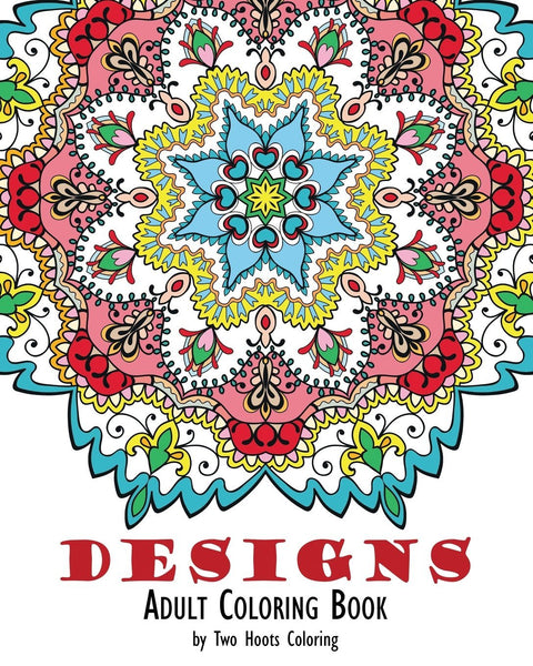 Mandala Boho Designs Adult Coloring Book-GoGetGlam