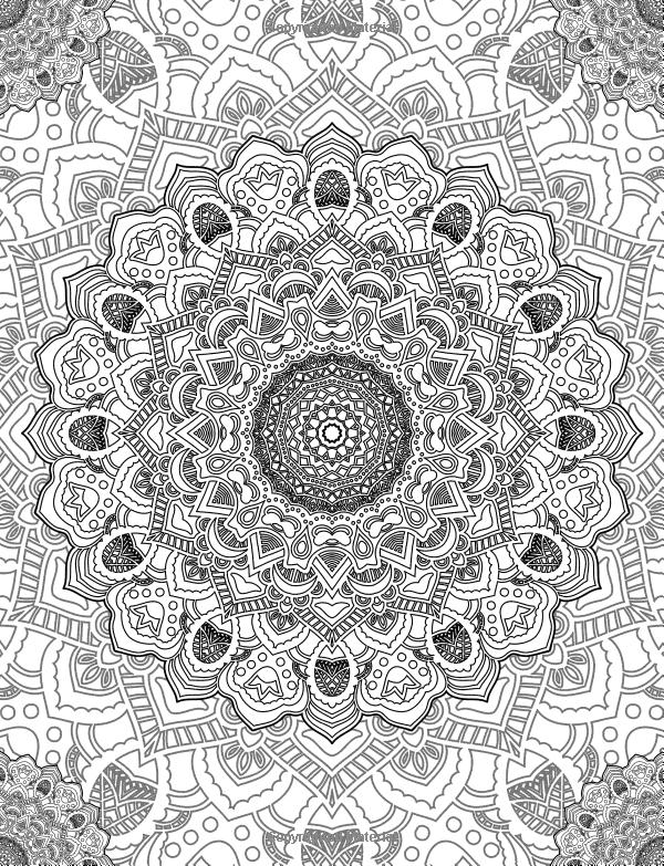 Relaxing Boho Adult Coloring Book Previous