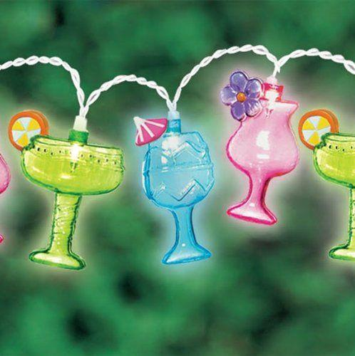 Margarita Glass Patio String Lights, 8-Feet - Boho Bohemian Decor