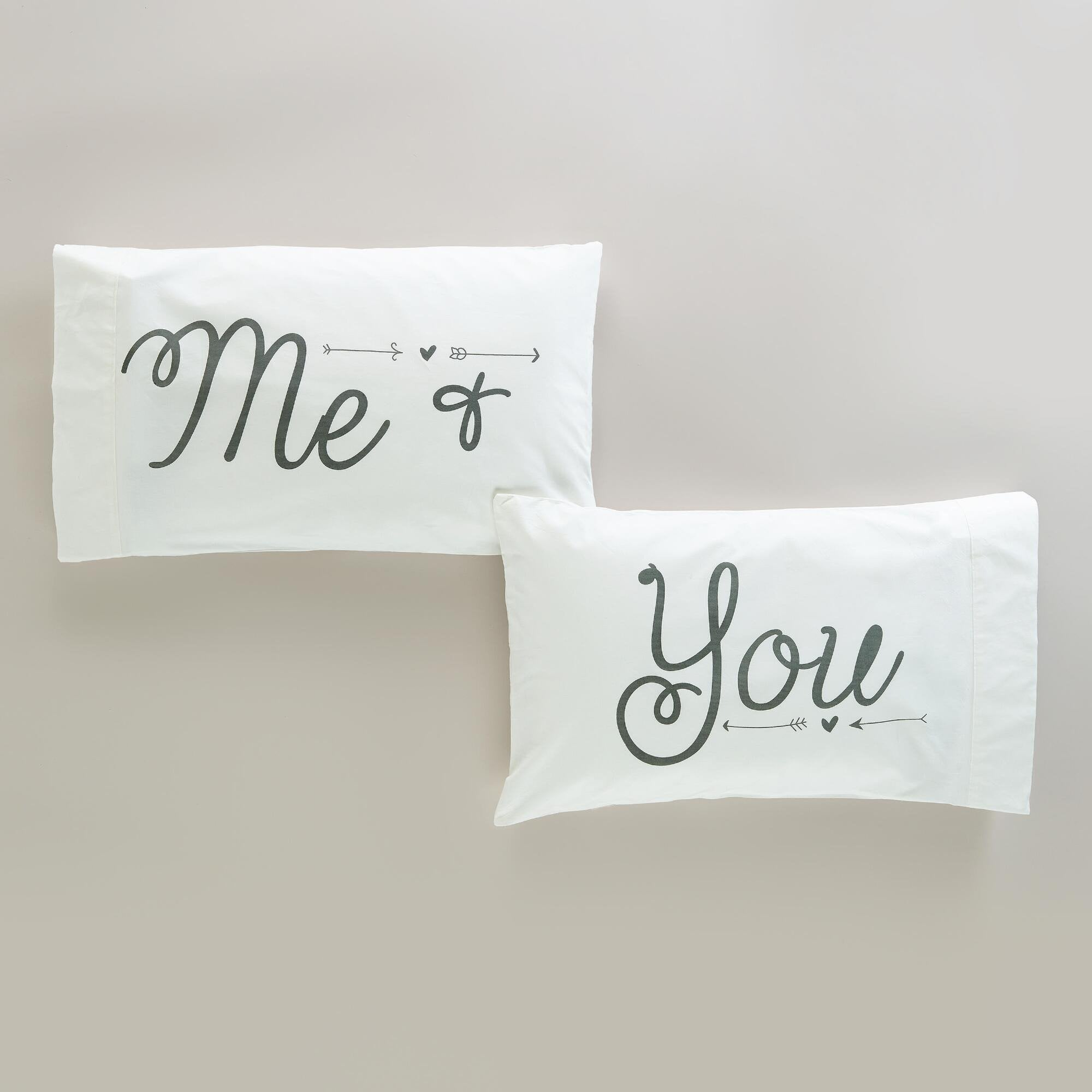 Me & You Pillowcases, Set of 2-GoGetGlam