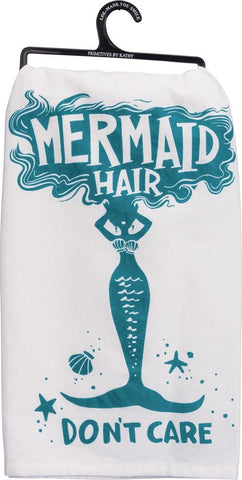 Mermaid Hair Cotton Dish Towel Set - Boho Bohemian Decor