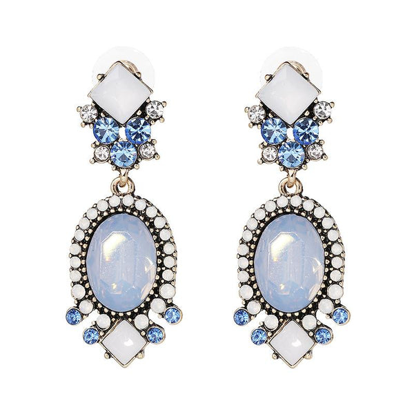 Mermaid Wishes Crystal Statement Earrings-GoGetGlam