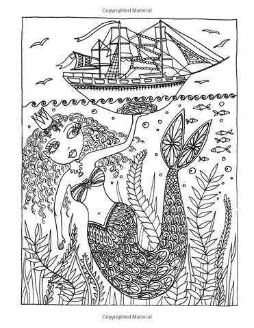 Mermaids: Coloring Book for Adults & Kids-GoGetGlam