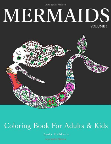 Mermaids: Coloring Book for Adults & Kids - Boho Bohemian Decor