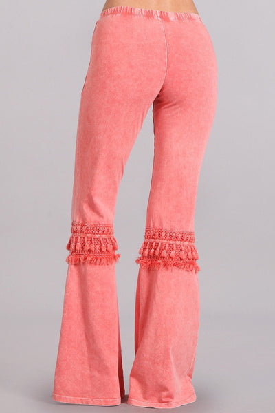 Mia Boho Coral Bell Bottom Pants-GoGetGlam