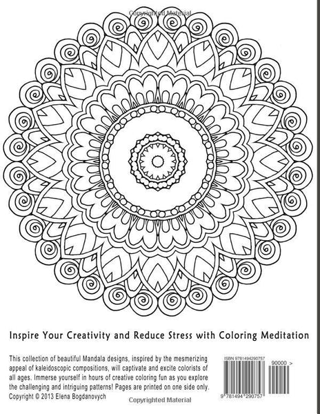 Mindful mandalas a mandalas mindfulness adult stress relief coloring book