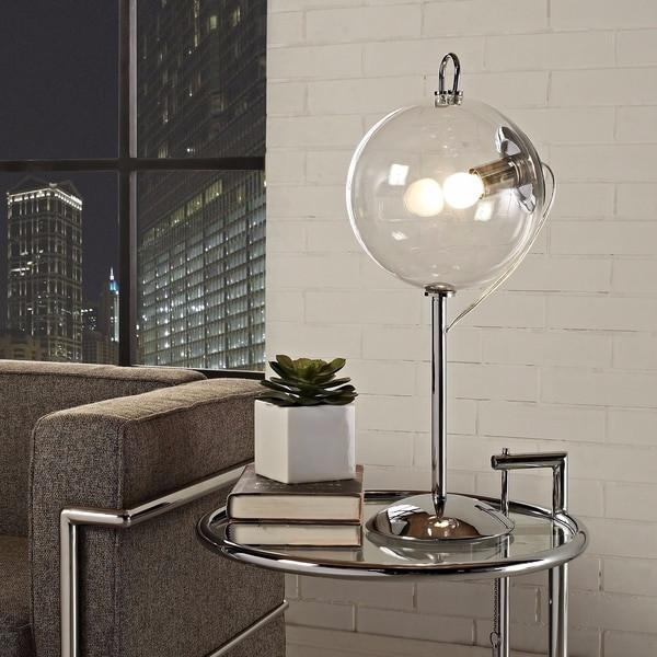 Modern Clear Globe Table Lamp-GoGetGlam