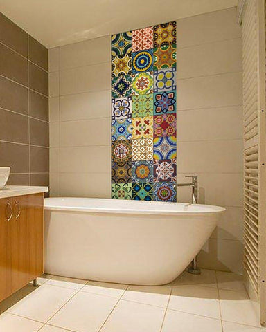Moroccan Boho Tile Decals Backsplash Wall Decor - GoGetGlam Boho Style