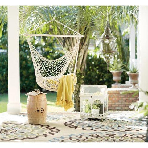 Natural Beige Macrame Boho Hanging Chair GoGetGlam
