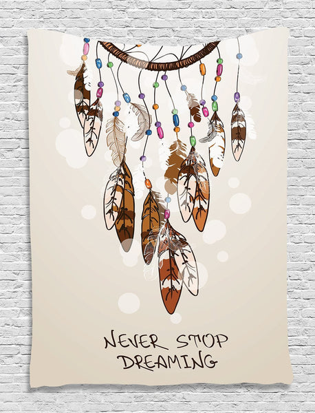 Never Stop Dreaming Wall Boho Tapestry-GoGetGlam