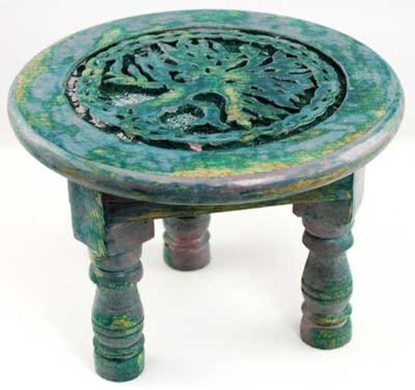 New Age Imports Round Tree of Life Altar Table-GoGetGlam