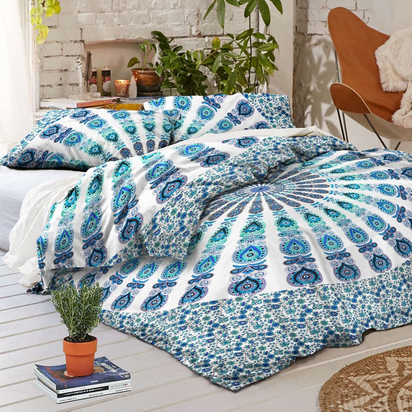 NEW Boho Armelia Mandala Tapestry Queen Duvet Cover SET-GoGetGlam