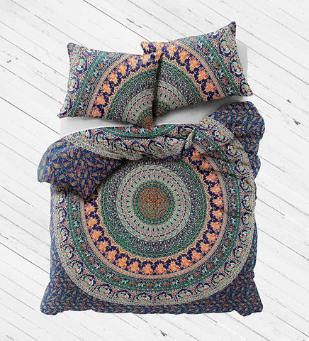 NEW Boho Hippie Eberlee Tapestry Full Duvet Cover SET-GoGetGlam