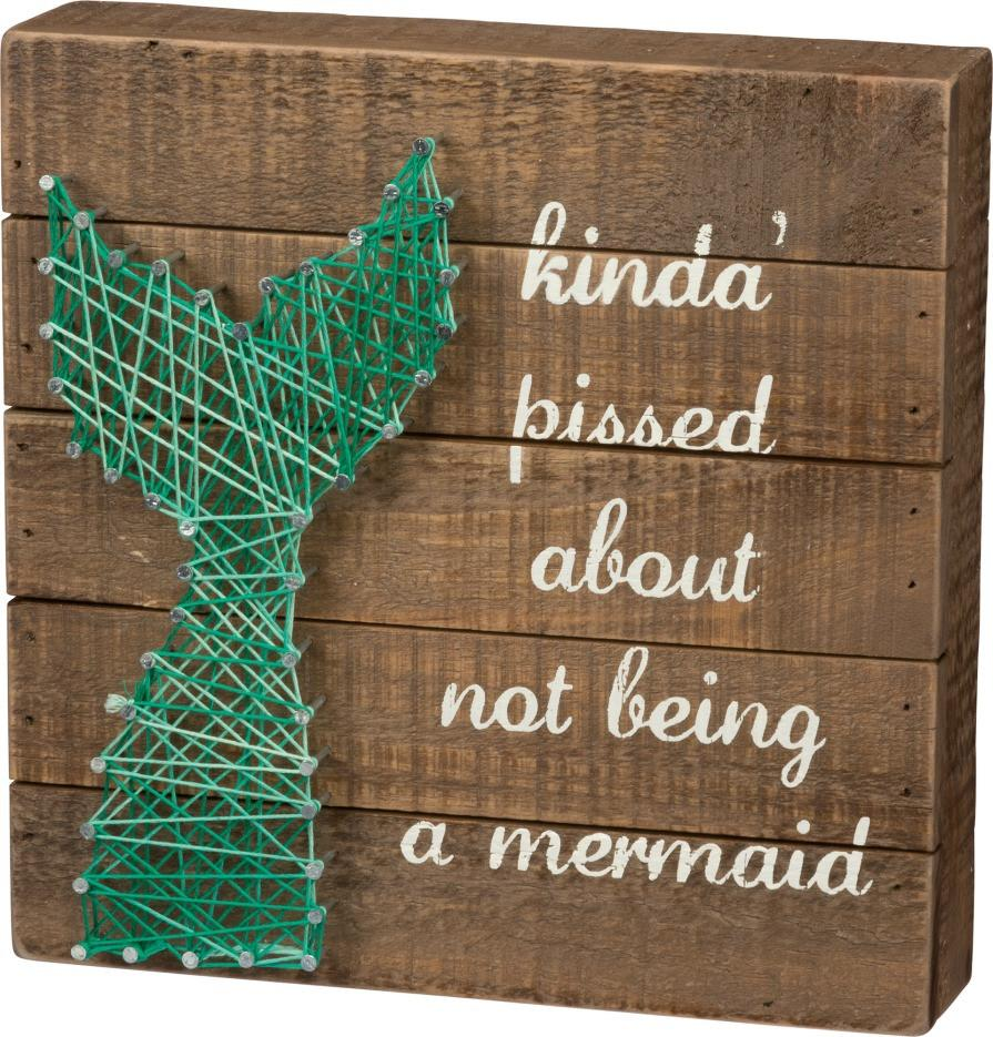Not A Mermaid String Art Wooden Box Art Sign-GoGetGlam
