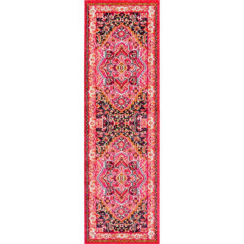 nuLOOM Global Passion Violet Pink Indoor Rug-GoGetGlam