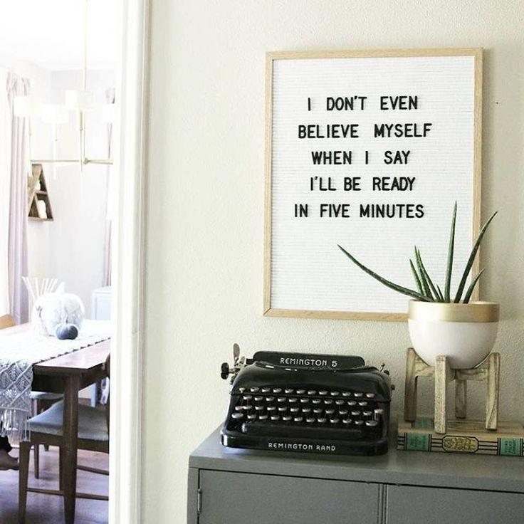 Oak Framed Letter Board with 290 Letters-GoGetGlam & Oak Framed Letter Board with 290 Letters