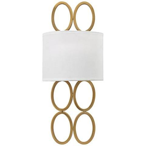 Oval Rings Silver or Gold Wall Sconce-GoGetGlam