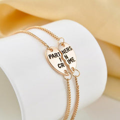 Partners in Crime BFF Friends 2 PC Charm Bracelet SET - GoGetGlam Boho Style
