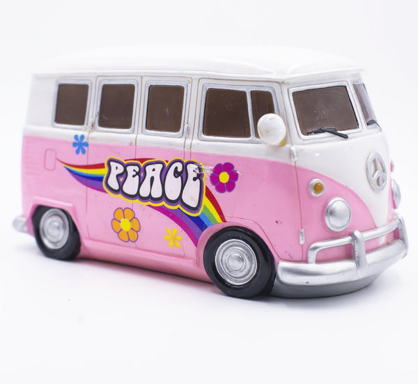 Peace Out Pink VW Camper Bus Van Night Light Lamp - GoGetGlam Boho Style