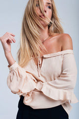 Adia Off Shoulder Ruffle Blouse