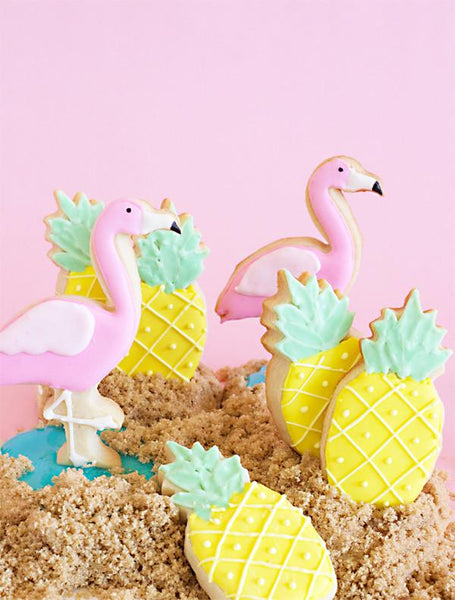 Pineapple & Flamingo Cookie Cutter Set - Boho Bohemian Decor