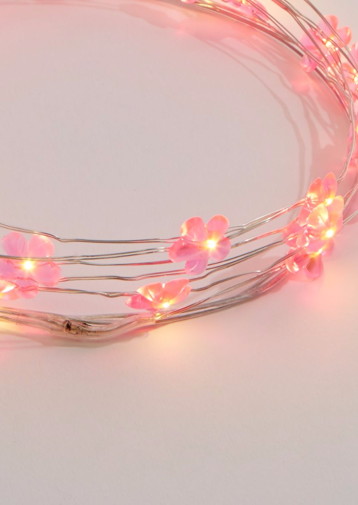 Pink String Lights Cool Pink Daisies LED String Lights GoGetGlam