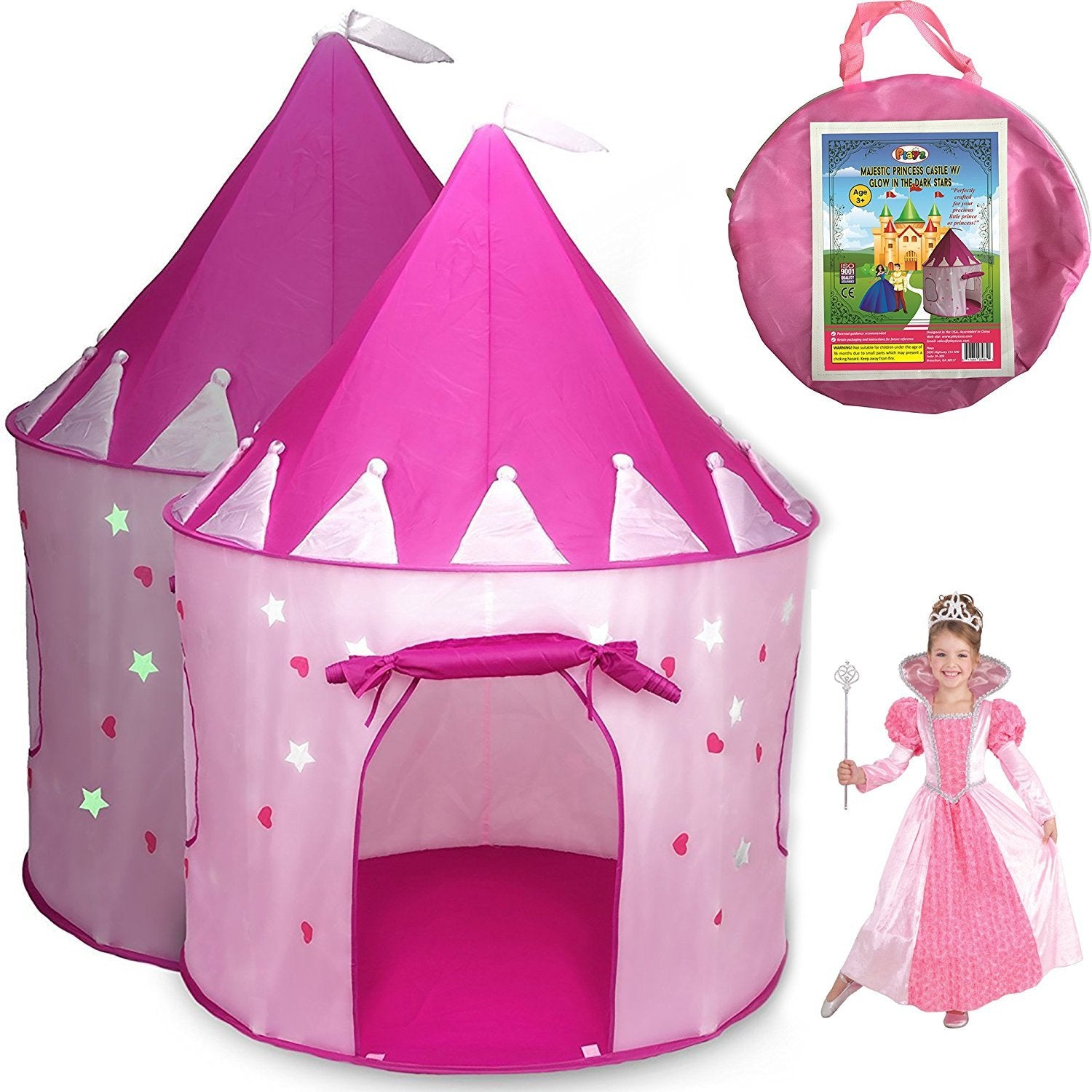 sc 1 st  GoGetGlam.com & Pink Princess Pack n Play Playhouse with Glow Stars