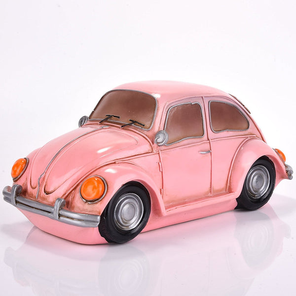 Pink VW Beetle Car Glow Night Light Lamp - Boho Bohemian Decor