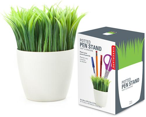 Potted Grass Pen Stand-GoGetGlam