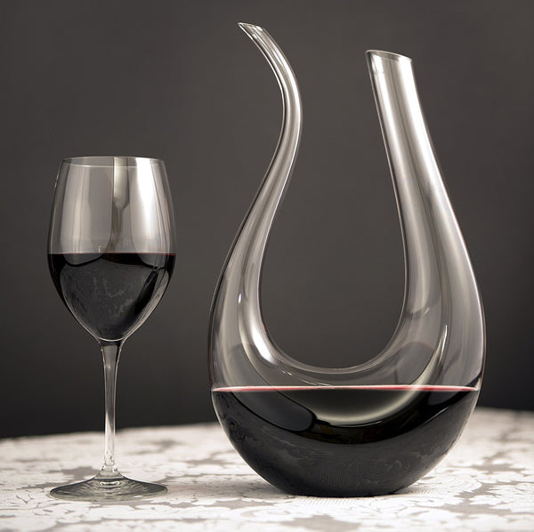 Premium Horn Shape Crystal Wine Decanter-GoGetGlam