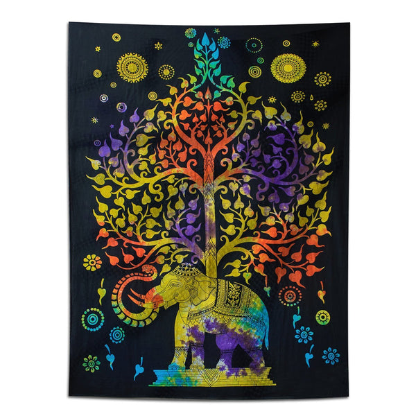 Psychedelic Tree of Life Boho Large Tapestry-GoGetGlam