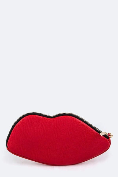 Red Lips Pouch Clutch Handbag-GoGetGlam