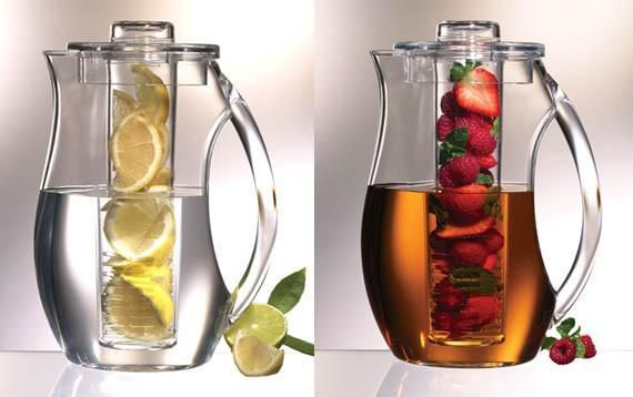 Rehydrate Pro Infuser Safe Clear Acrylic Fruit Herbs Infusion Pitcher-GoGetGlam