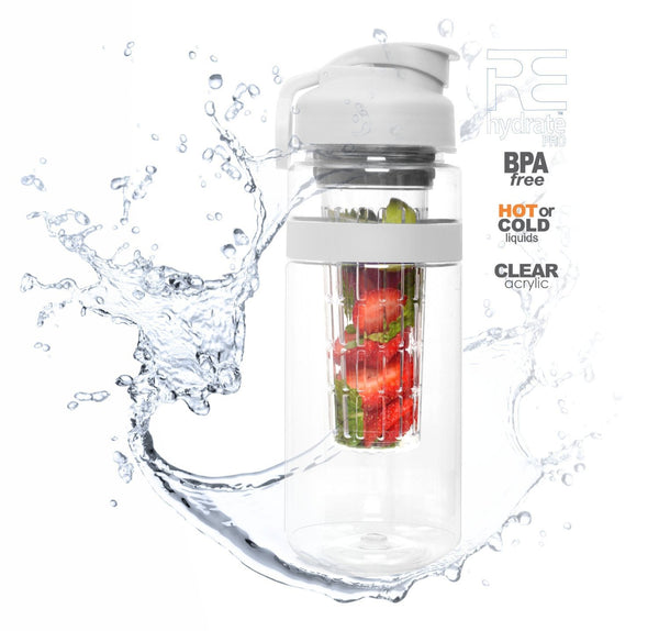 Rehydrate Pro Infuser Sports Bottle 32 Oz. Safe Clear Acrylic Infusion Water Bottle-GoGetGlam
