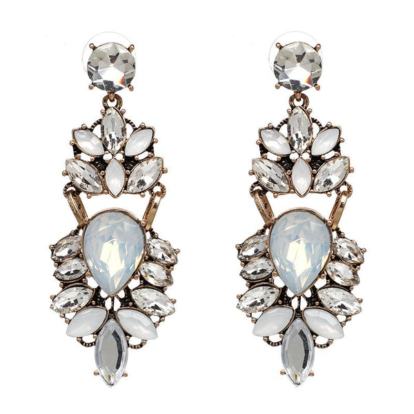 Rozie Crystal Statement Earrings-GoGetGlam