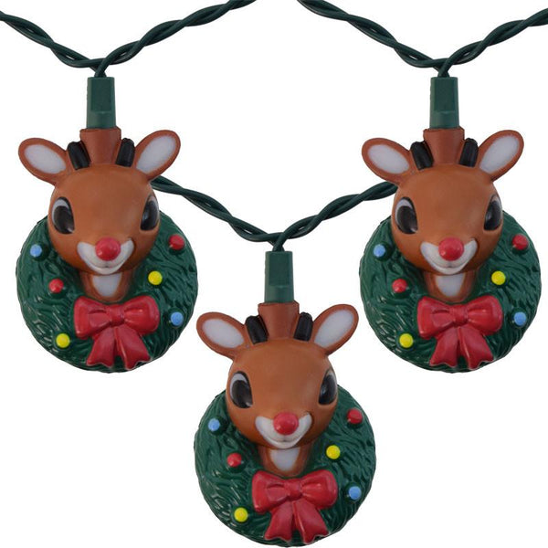 Rudolph The Red Nosed Reindeer Set of 10 String Lights-GoGetGlam