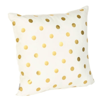 She Leaves Sparkle Shimmer Polka Dot Throw Pillow-GoGetGlam
