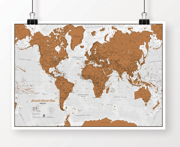 Scratch World Map - Scratch Off Places You Travel - GoGetGlam Boho Style