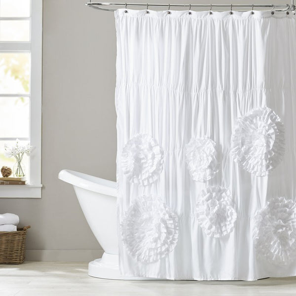 Beautiful Blossoms White/Ivory Shower Curtain - GoGetGlam Boho Style